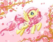 Fluttershy's Magic art print