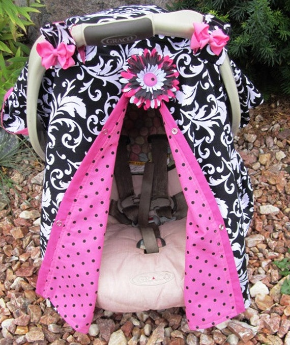 girl carseat canopy car seat cover free shipping on entire. Black Bedroom Furniture Sets. Home Design Ideas