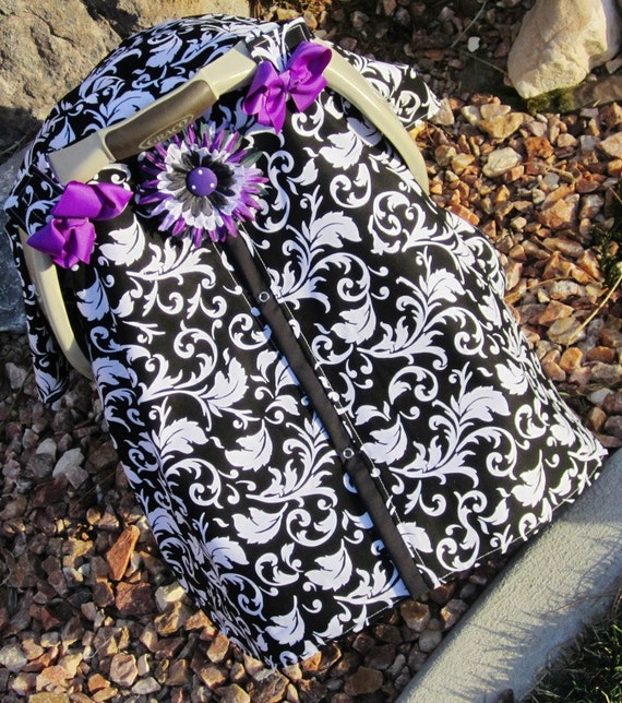 Carseat Canopy Free Shipping Code Today Car Seat Cover Nursing Black Purple