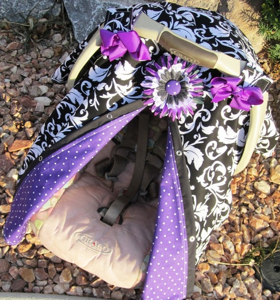 Carseat Canopy Free Shipping Code Today / car seat cover / nursing cover / carseat canopy / carseat cover / black / purple