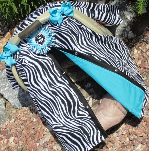 Car seat canopy Free Shipping Code Today / zebra / zebra print / car seat cover / nursing cover / carseat canopy / carseat cover