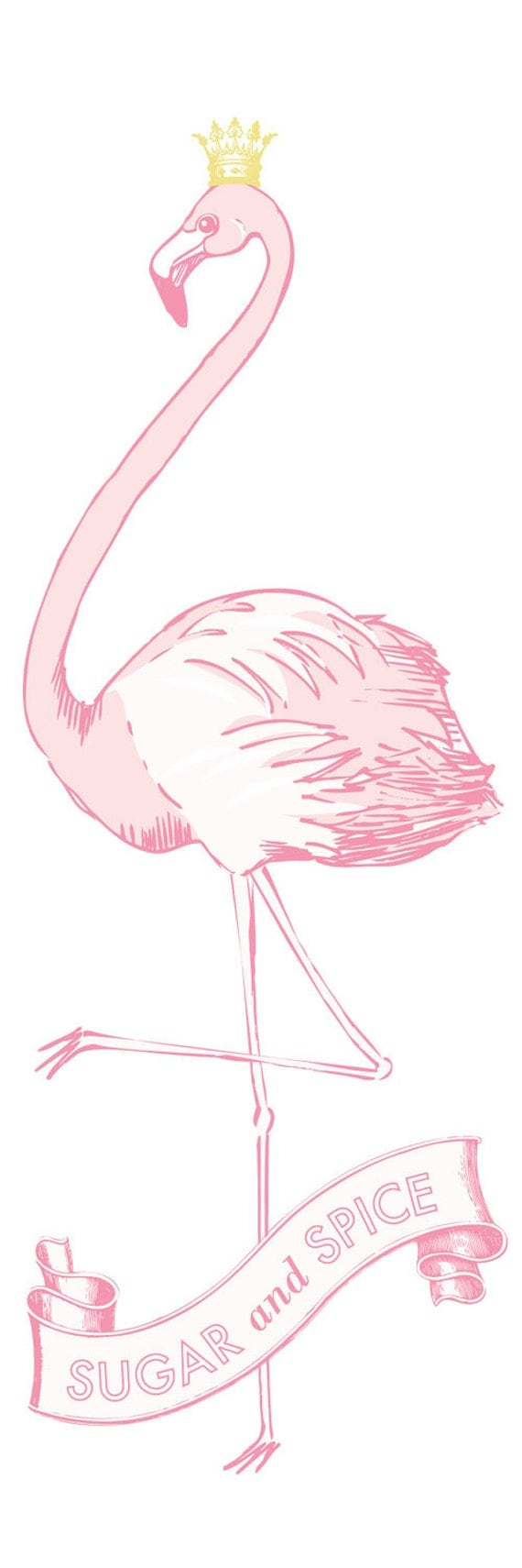 large flamingo sign for baby nursery or shower