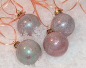 Hand painted metallic ornaments - Set of 4
