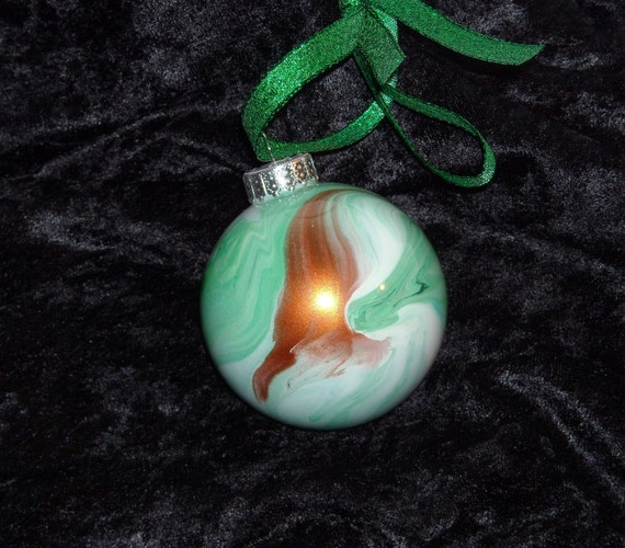 Hand painted glass ornament B6