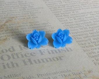 Royal Blue Tulip Studs