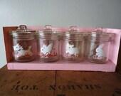 Vintage Set of Glass Jars for Baby