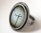 Fly Away - Large Oval Photograph Ring - original photography