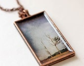 20% Thangsgiving Sale Holiday Photo Jewelry Necklace - A Sliver of Gold - original photography - Thanksgiving