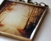 20% Thangsgiving Sale Holiday Decoration -  Silent Path  - Photograph Mini Wall Hanging/Ornament - original photography - Thanksgiving
