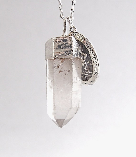 30% Off Sale: St. Christopher Crystal Point Necklace
