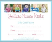 Yellow House Knits Gift Certificate--100 Dollars