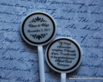 Stir Sticks Customized for Weddings
