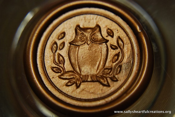 Owl Peel and Stick Flexible Faux wax Seals