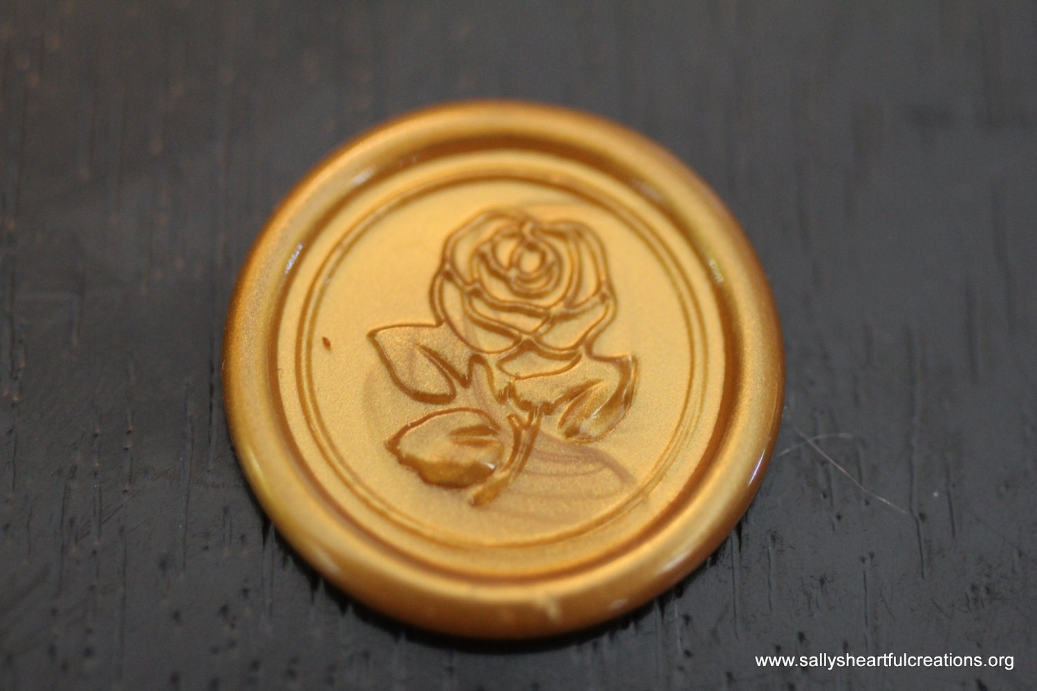 Rose self adhesive faux wax seal for shabby chic by smithrj18 for Rose adesive