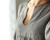 Dress or Tunic - My Garden - Taupe Brown color