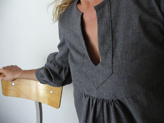 Dress or Tunic - My Garden - Grey  color