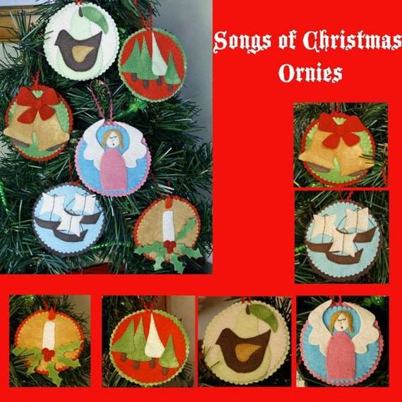 Songs of Christmas Ornies Pattern