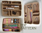 Modular Drawer Organizer Tray Crochet PDF Pattern