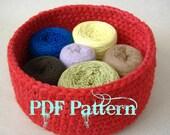 Uber Big Nesting Bowls Set of Eight Crochet PDF Pattern