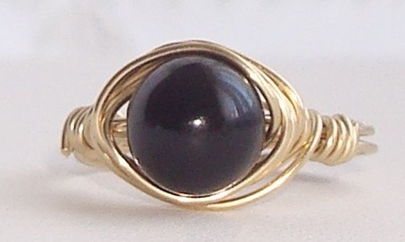 Onyx Wire Wrapped Ring