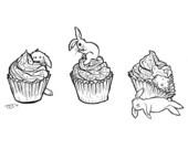 Cupcakes n Bunnies - Ltd. Ed. Art Print