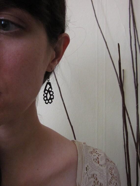 Chantilly Lace Bike Tube Eco Friendly Earrings