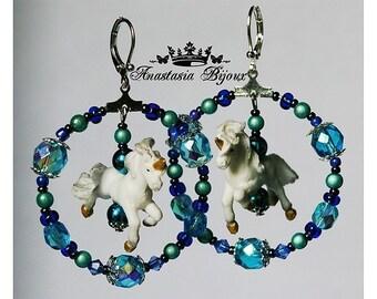 Romantic Marry-go-round Unicorn Earrings