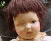 Haunted (composition and cloth doll)