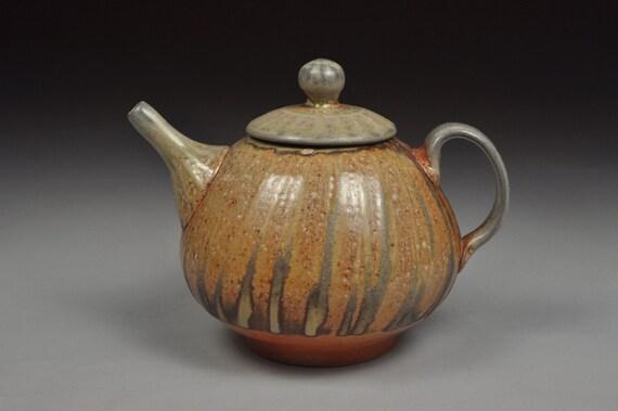 Soda Vapor Glazed Teapot