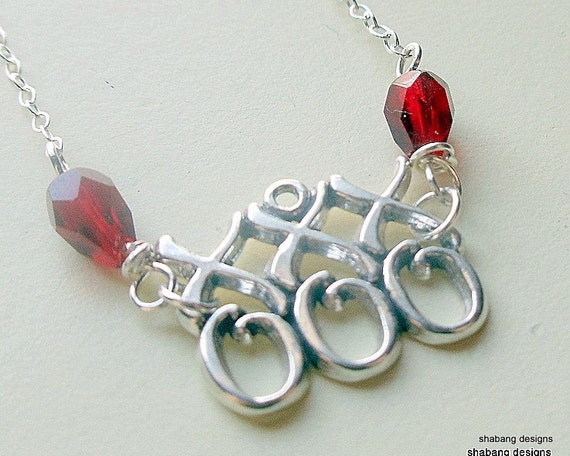 XOXO Kisses & Hugs Sterling Necklace