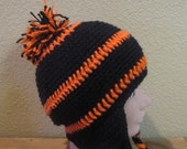 Design your own Sports League Earflap NFL, MLB, NHL, HighSchool or College Team, Free Ship
