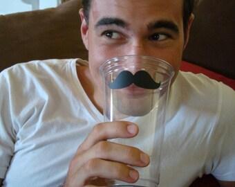 100 Mustache Cups - 24 oz