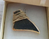 Hemp and Sea Pottery Pendant