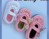 Baby Girl Slippers Crochet Pattern Maryjanes for BABY RIBBON MARYJANES digital