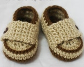 newborn boy Crochet Pattern Loafers  for Little PRINCE Loafers  -  4 sizes - Newborn to 12 months. digital