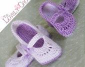 Crochet Pattern Toddler Girl Shoes for - TODDLER RIBBON MARYJANES digital