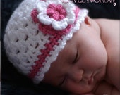 Baby Beanie Hat Crochet Pattern for Ebeth's Princess Beanie - sizes from newborn to 4T digital