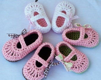 Maryjanes Crochet Pattern Maryjanes for BABY RIBBON MARYJANES digital