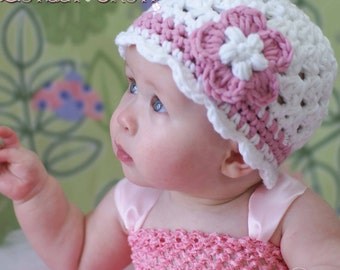PDF Crochet Pattern for Bulky Yarn  Princess Beanie - sizes from newborn to 6T digital
