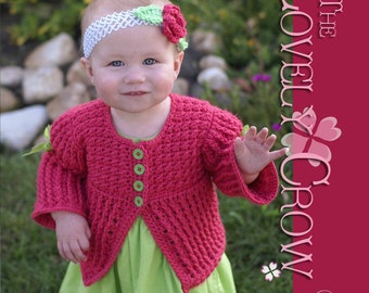 Baby Sweater Crochet Pattern Vest, Sweater, or Cardigan, BELLA SARAH CARDIGAN digital