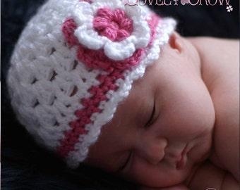 Girl Beanie Crochet Pattern for Ebeth's Princess Beanie - sizes from newborn to 4T digital