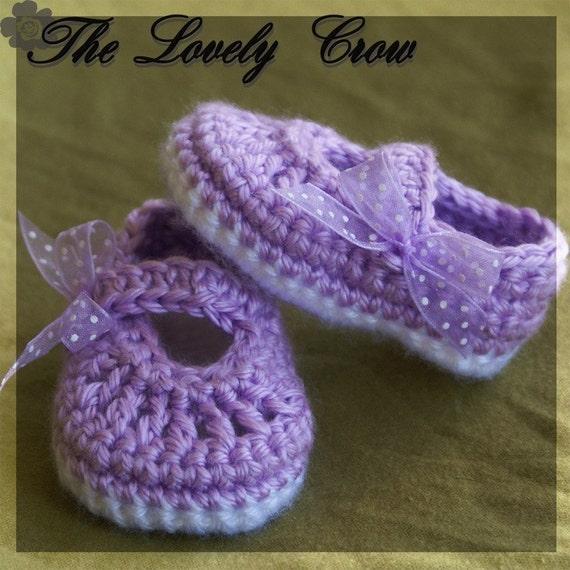 Baby Crochet Pattern Baby for BABY RIBBON MARYJANES digital
