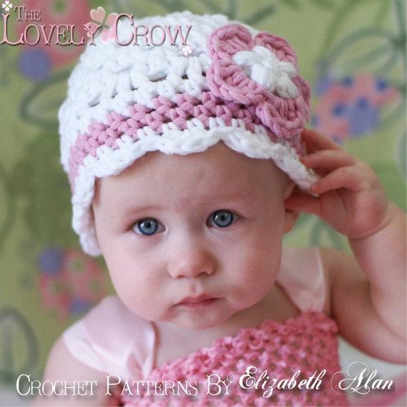 Baby Beanie Crochet Pattern for Bulky Yarn -  Princess Beanie - sizes from newborn to 6T digital