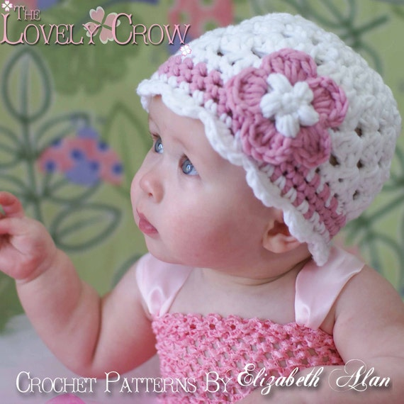 Crochet Pattern Baby Hat Bulky Yarn : PDF Crochet Pattern for Bulky Yarn Princess Beanie sizes