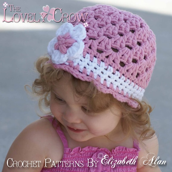 Free Crochet Patterns For Baby Sport Yarn : Baby Beanie Crochet Pattern for Bulky Yarn Princess Beanie