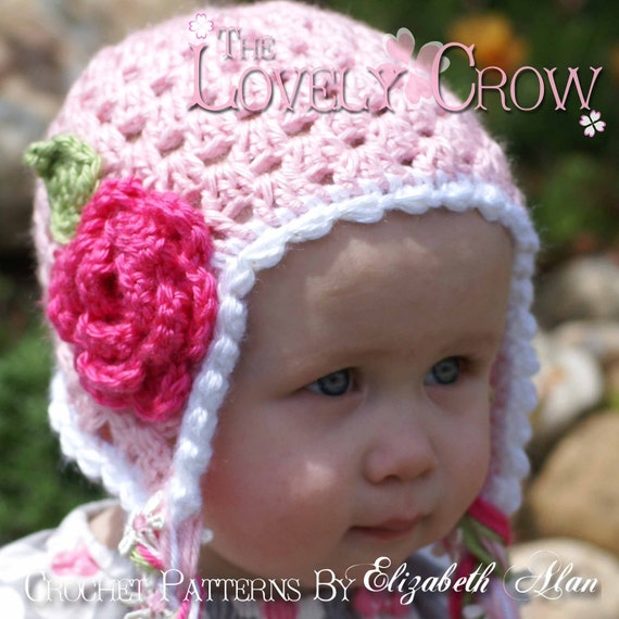 Hat Crochet Pattern for Sugar and Spice Earflap Beanie sizes