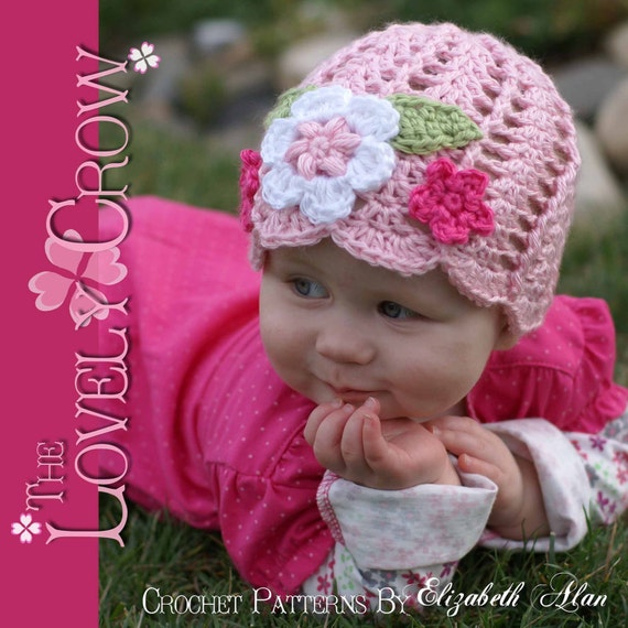 Baby Beanie Crochet Pattern Flower Beanie for Garden Fairy Hat digital