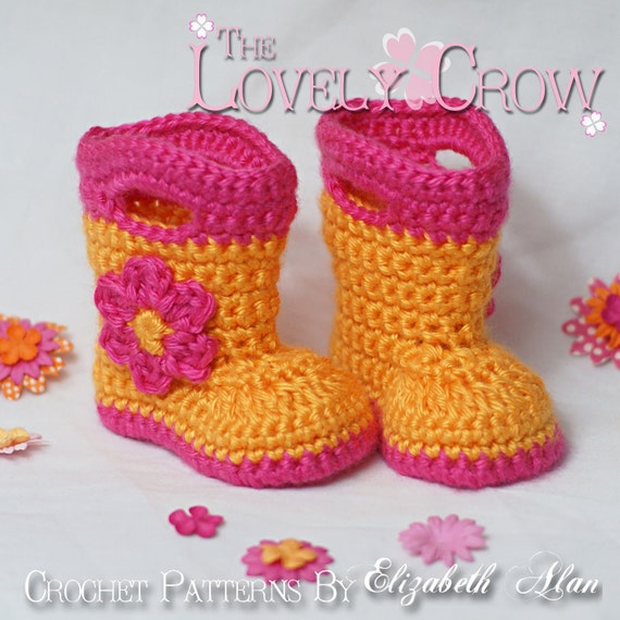 Crochet Baby Rain Boot Pattern Free : Booties Crochet Pattern Baby Rainboots for Baby Goshalosh