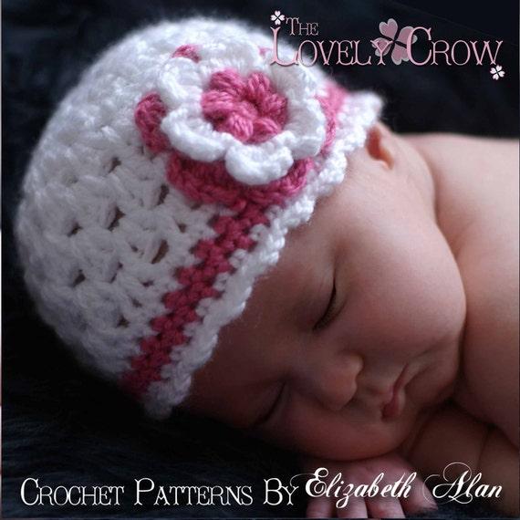 Baby Beanie Hat Crochet Pattern for Ebeth's Princess Beanie - sizes from newborn to 4T digital