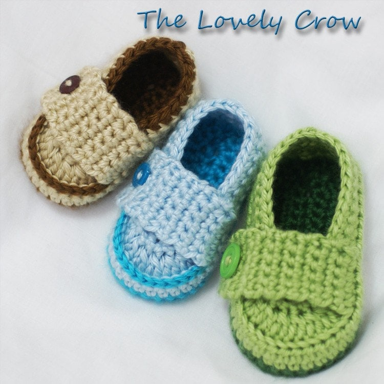 Baby Boy Loafers Crochet Pattern Booties for Little PRINCE